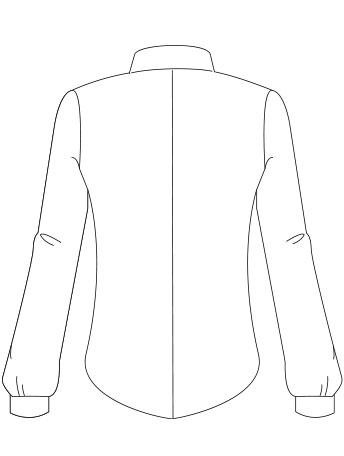 Camicia Cucitura Centrale