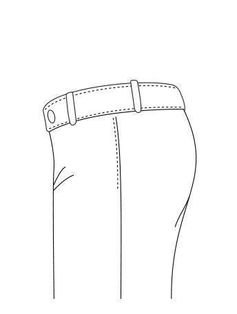 Pantaloni Tasca Front Francese