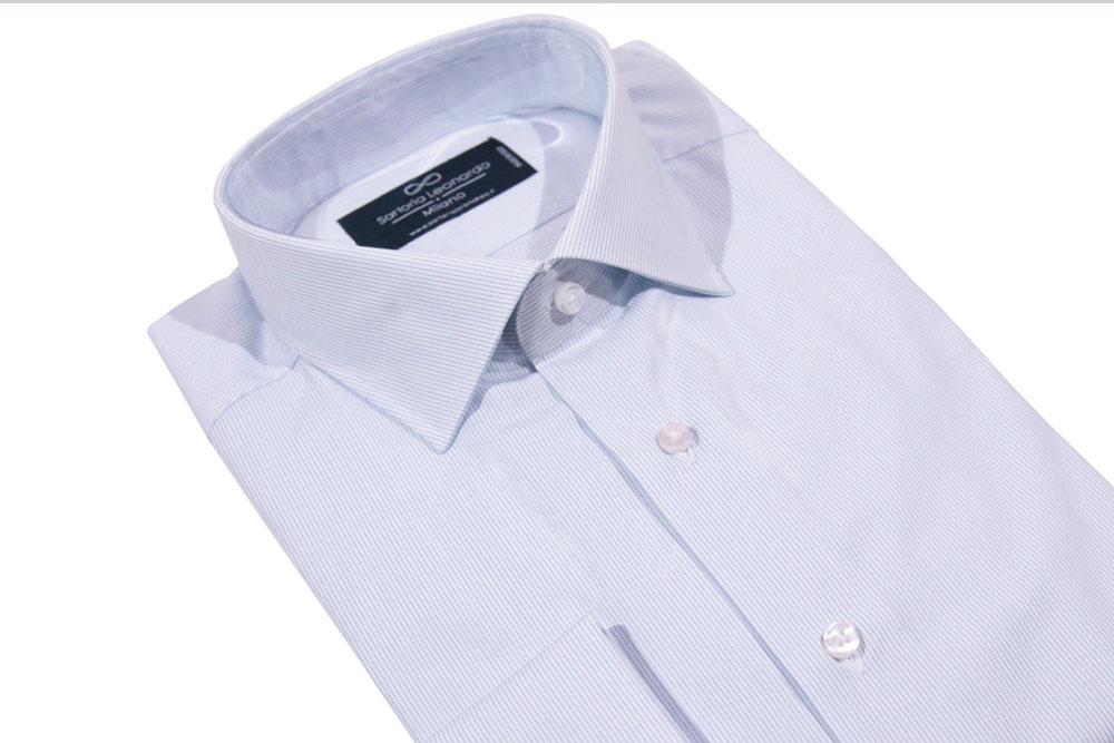Camicia azzurra Sartoria Leonardo Milano