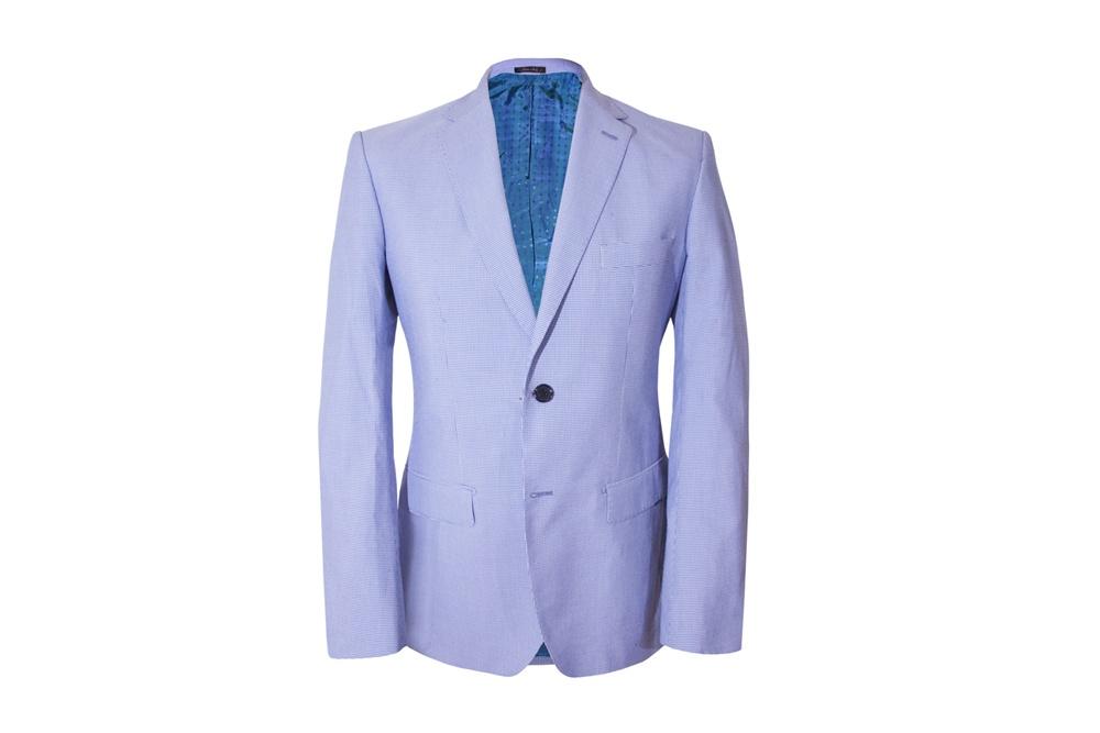 giacca azzurra sartoria leonardo su misura